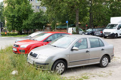 Parked cars Royalty Free Stock Photo