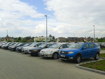 Parked cars Raben Stock Images