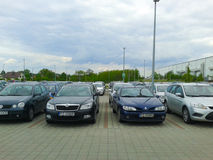 Parked cars Raben Royalty Free Stock Image