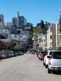 Parked cars on the San Francisco streets Royalty Free Stock Photo
