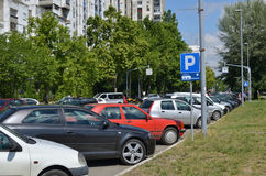 Parked Cars on a Street Royalty Free Stock Photos