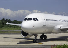 Parked Commercial Airplane Stock Image