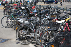 Parked Cycle Royalty Free Stock Images