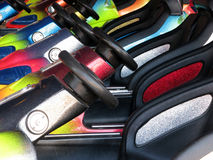 Parked dodgem cars Stock Photography