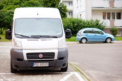 Parked Fiat Ducato Royalty Free Stock Photography