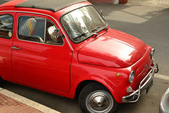 A parked Fiat 500 Royalty Free Stock Images