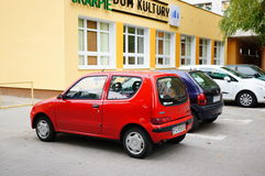 Parked Fiat Seicento Royalty Free Stock Photo