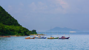 Parked fisherman boats Royalty Free Stock Image