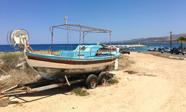 Parked fishing boat Stock Photography