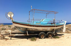 Parked fishing boat Royalty Free Stock Images