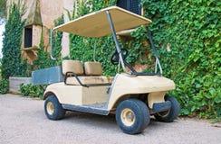 Parked golf cart. Stock Photos