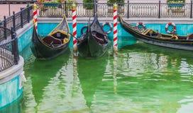 Parked gondola Royalty Free Stock Photo