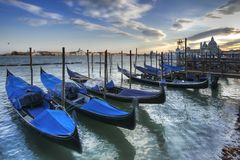 Parked Gondolas Royalty Free Stock Photos