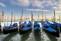 Parked Gondolas Royalty Free Stock Images
