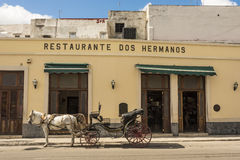 Parked horse carriage Havana Stock Image