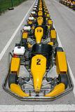 Parked karts Royalty Free Stock Photo