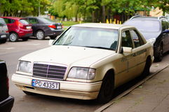 Parked Mercedes car Stock Image
