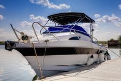 Free Parked Motor Boat Royalty Free Stock Photos - 21683838