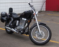 Parked Motorbike Stock Photography
