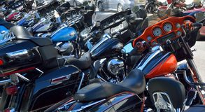 Parked motorbikes Royalty Free Stock Image