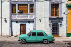 Parked, old Russian car, Havana, Cuba Royalty Free Stock Photos