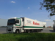 Parked Raben truck Stock Photos