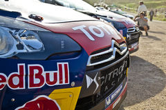 Parked Rally race cars Royalty Free Stock Images