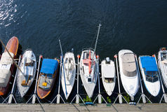 Parked sailboats Stock Image
