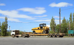 Transportation of Heavy Machinery Royalty Free Stock Photography