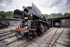 Parked steam engine Stock Photos