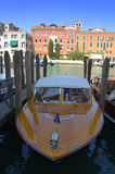 Parked taxi boats,Venice Royalty Free Stock Images