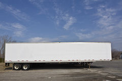 Parked trailer Royalty Free Stock Images