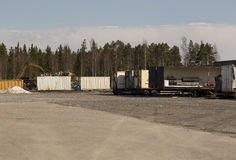 Parked trailers Royalty Free Stock Photography