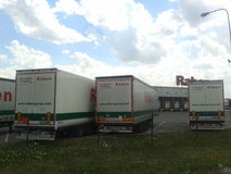Parked trucks Royalty Free Stock Photo