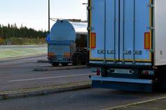 Parked trucks Royalty Free Stock Photos