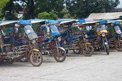 Parked tuk tuks Stock Images
