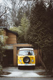 Parked VW Camper Van  Stock Photo