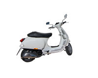 Parked white scooter Stock Photography