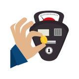 parkeermeter geïsoleerd pictogram Royalty-vrije Stock Foto's