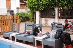 Parkeerplaats van herberg in Luang prabang, Laos Royalty-vrije Stock Foto