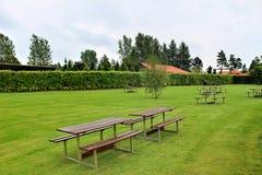 Parkeerplaats van sommerland in Denemarken Stock Foto's