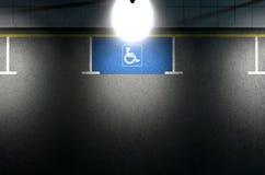 Parkeerplaatsparaplegielijder Stock Afbeelding