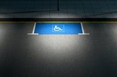 Parkeerplaatsparaplegielijder Stock Foto