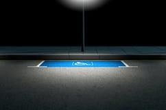 Parkeerplaatsparaplegielijder Stock Foto's