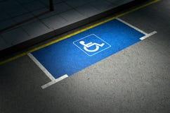 Parkeerplaatsparaplegielijder Royalty-vrije Stock Foto