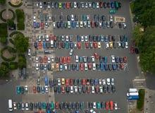 Parkeerterrein Stock Foto's