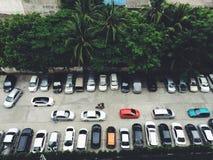 Parkeerterrein in Bangkok, Thailand Stock Afbeeldingen