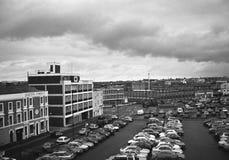 Parkeerterrein in Birmingham stock afbeeldingen