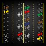 Parkeerterrein hoogste mening Royalty-vrije Stock Afbeelding