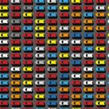 Parkeerterrein hoogste mening Royalty-vrije Stock Foto